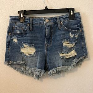 NWOT- Mossimo High-waisted Distressed Jean shorts